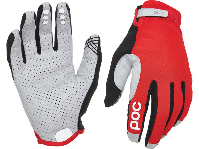 POC Resistance Enduro Gloves Adjustable prismane red